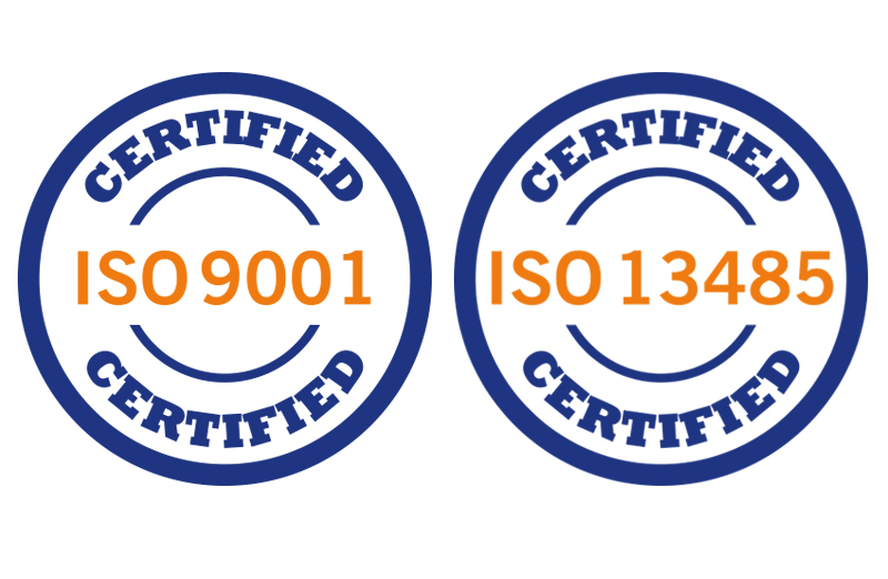 ISO 9001 and ISO 13485 certified.