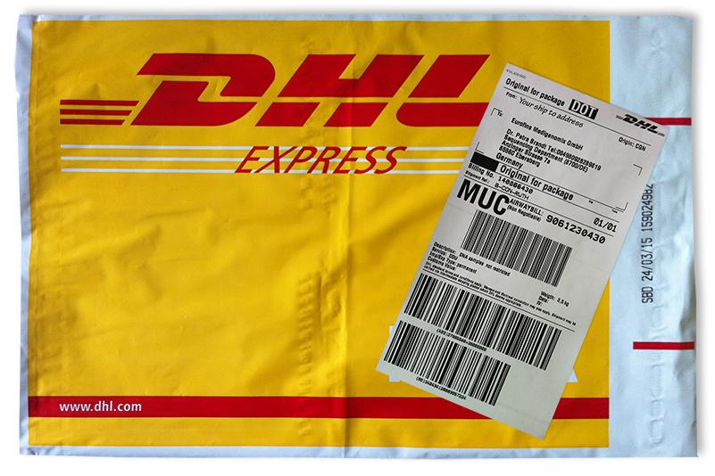 easy ordering of dhl labels and envelops. Black Bedroom Furniture Sets. Home Design Ideas