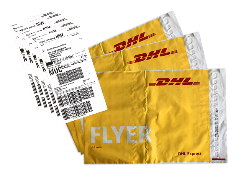 Easy Ordering of Carrier Labels and Envelops