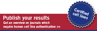 Cell Line Authentication - Publications